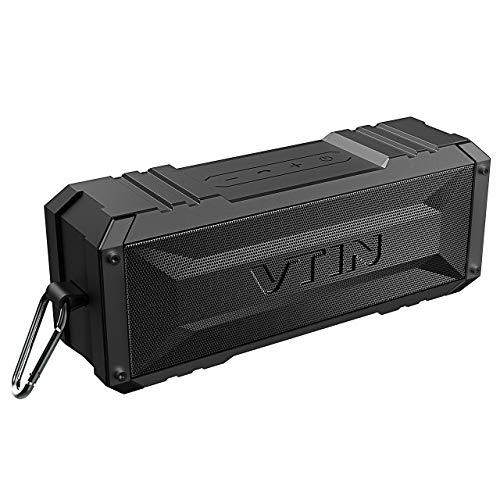 VTIN Bluetooth-Lautsprecher, 20-W-Dual-Drive-Wireless-Lautsprecher, 30 Stunden Spielzeit, Deep Bass und integriertes Mikrofon für iOS- und Android-Geräte, Outdoor-Bergsteigen und mehr tragbar