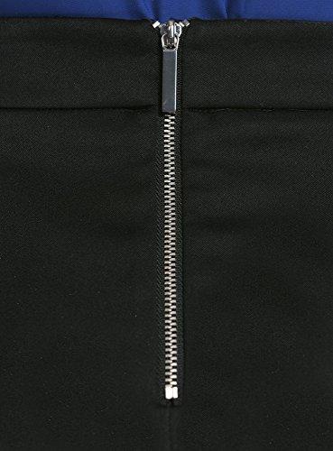 oodji Ultra Damen Kurzer Bleistiftrock mit Hoher Taille Schwarz (2900N)