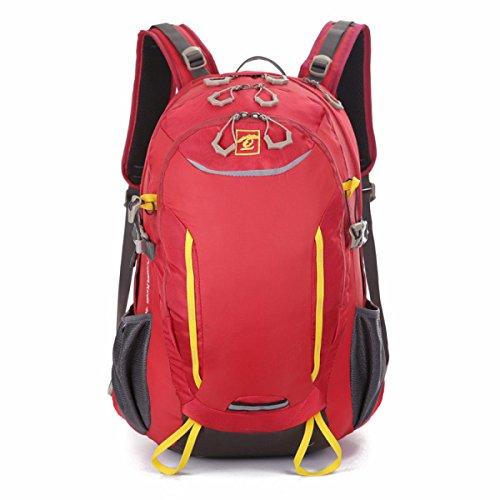 All'aperto Sport Borsa Multifunzionale Impermeabile Pratico Zaino,Yellow-OneSize Red