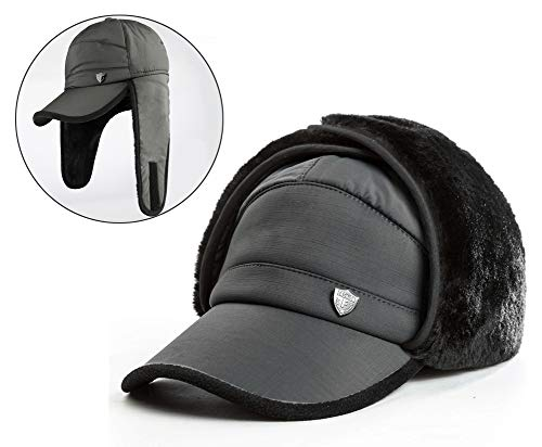 Yooeen Hombres Gorra Militar Con Orejeras Gorra de Béisbol Cálido Invierno Gorro Gorra Outdoor Sport Cap Hat