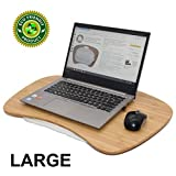 Beebo Beabo grande Bamboo lap scrivania per laptop portatile Jumbo di scrivania vassoio con cuscino staccabile Pilliow Lapdesk adatto come supporto letto vassoio leggio scrittoio