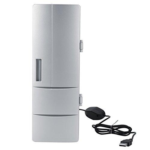 Mini Frigorifero USB,Frigorifero Portatile Bevande in Scatola e Refrigeratori per Birra Usato per Viaggi, Auto, Ufficio, Dormitorio, Campeggio
