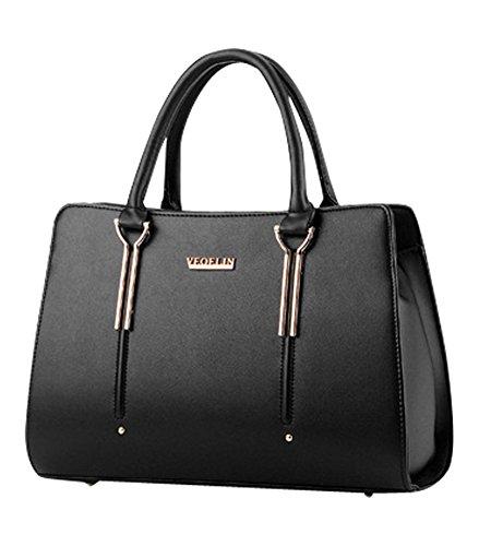 MissFox Borsa Shopping Bag Elegante Donna Vari Colori Nero