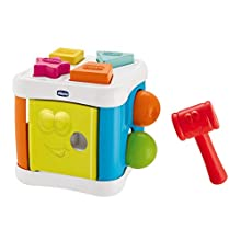 Chicco Cubo 2 in 1 Incastra e Martella, 00009686000000