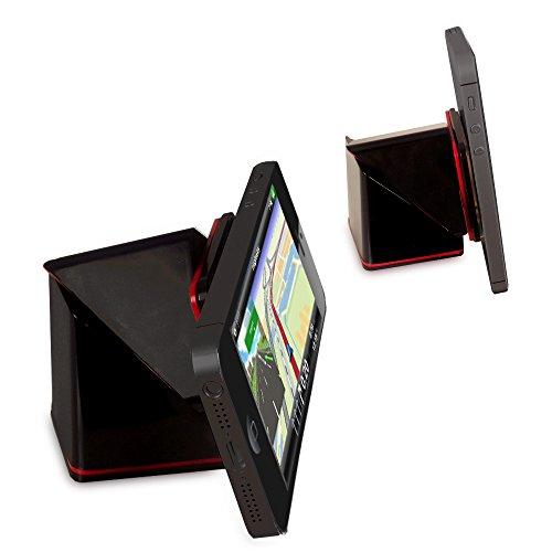 Orzly® - SmartPhone / SatNav SUPER CUBE STICKY HOLDER - Einzigartige Sticky Mechanism, die sie entweder mit oder ohne Gehäuse verwendet werden kann - Kompatibel für den Einsatz auf entweder Armaturenbrett / Windschutzscheibe / Schreibtisch / Tabelle / usw. - Multidirektionale Swivel - SCHWARZ - Swivel Mount Dock