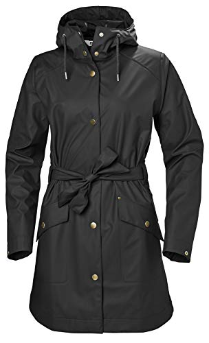 Helly Hansen W Kirkwall II Raincoat Jacket, Mujer, Black, XL