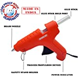 Cheston Leak Proof Made in India Hot Melt Glue Gun 60 Watt PTC Heat Technology Trigger Feed (Available with 2,5,10 or 20 Glue Sticks Pack)