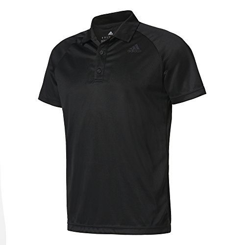 Adidas D2M Polo de Tennis pour Homme, Noir, L