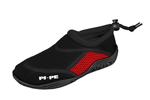 PI-PE Active Badeschuhe Kinder Jungen und Mädchen Aquashoes Schwimmschuhe Back/Red 21 - Mädchen 10 Sportschuh Größe