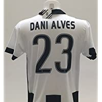 Juventus Official 2016–17 Dani Alves Home 23 Replica Shirt for Children Aged 12, 10, 8, 6, 4, 2 Years