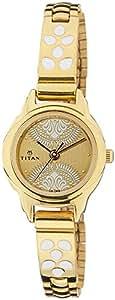 Titan Analog Beige Dial Women's Watch - 2401YM04