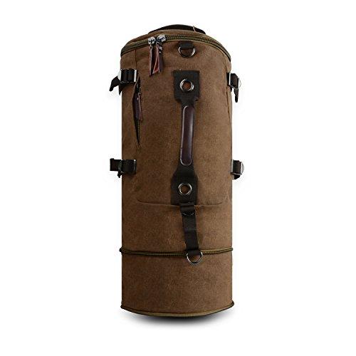 Qyuhe® Canvas Rucksack für Herren Wandern Daypack Backpack ideal für Reisen Campus Studenten und Outdoor Wandern, verlänger...