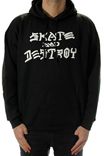 THRASHER Skate & Destroy Black con Capucha