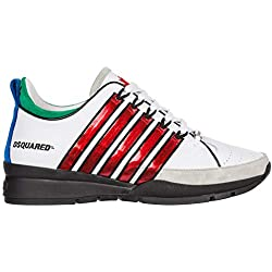 Dsquared2 Chaussures Homme Basket 251 Blanc Rouge SS 2019