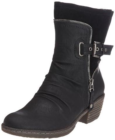 Rieker 93761, Damen Biker Boots, Schwarz (schwarz/schwarz / 01), 38 EU (5 Damen UK)