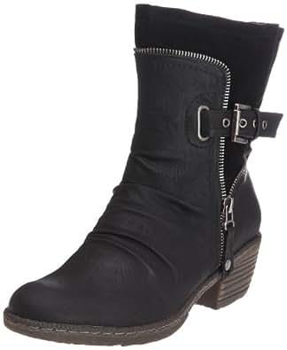 Rieker 93761, Damen Biker Boots, Schwarz (schwarz/schwarz / 01), 36 EU (3.5 Damen UK)