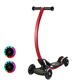 Homgrace Kinderroller Scooter Roller Klappbar 4 Wheel Stabil Tretroller Cityroller Kickscooter für Kinder ab 4 Jahren bis 10 Jahren, C-förmig, Höhe: 73 cm, Bestes Geschenk für Kinder