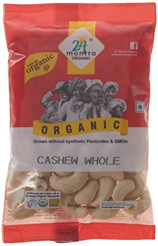 24 Mantra Organic Cashew Whole, 100g