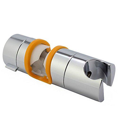 Joyoldelf Handbrause Halterung,18-25 mm verstellbar Brausehalter ABS Grade Kunststoff Chrome perfect Für Badezimmer