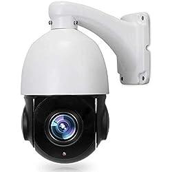 Cámara PTZ, LEFTEK mini exterior POE IP PTZ Cámara 4,0 megapíxeles (2560x pixel) IR alta velocidad noche visión 20x zoom 4.7 mm-94mm lente 196ft IR distancia H. 265/H. 264 ONVIF