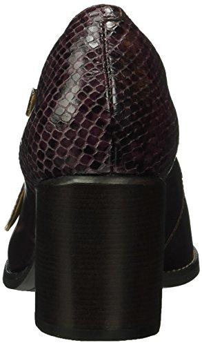 Clarks Damen Tarah Presley Pumps Violett (Aubergine Leather/Snake Combi)