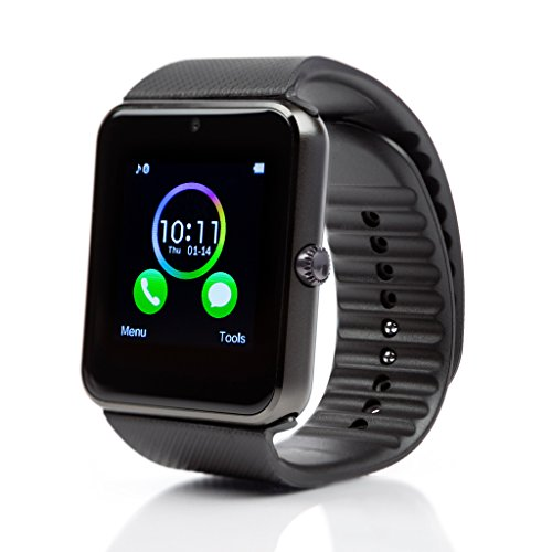 SmartWatch-mit-Sim-karte-Eintrag-MaiDealz-GT08-Bluetooth-Smart-Watch-Fitness-Watch-with-Touch-Screen-Hands-Free-Calorie-Counter-Pedometer-Bracelet-Smart-Activity-Tracker-Wristband-for-Android-Smart-Ph