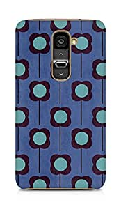 Amez designer printed 3d premium high quality back case cover for LG G2 (Flower Pattern)