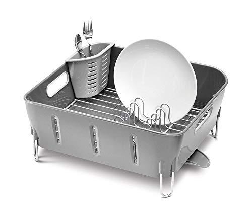 Simplehuman Égouttoir à vaisselle compact Plastique Gris