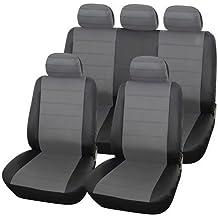 MR E SAVER© Heavy Duty Urban Grey & Black Leather Seat Covers MRE1978