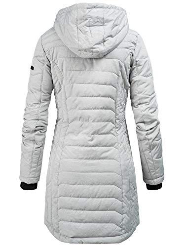 Sublevel Damen D5193U44138A Winter Steppmantel Kapuze Übergangs Jacke Parka Wintermantel Winterjacke Light Grey (FreshMade) S - 2