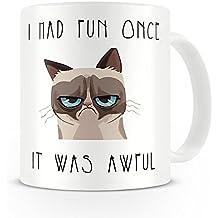 taza de gato gruñón