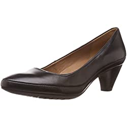 Clarks Women's Denny Mellow Black (Fit D) Leather Pumps - 6 UK