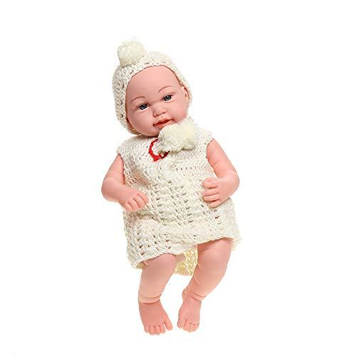 MYYXGS Wiedergeburt Silikon Stil Realistisch Wiedergeboren Baby Puppe Realistisch Aussehen Baby MäDchen Oder Junge Spielzeug Kind MäDchen 50 cm