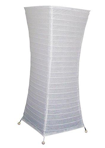 Stehleuchte, Papier, Weiß, Füße Metall, Ambiente, Wohnzimmer, 58 cm