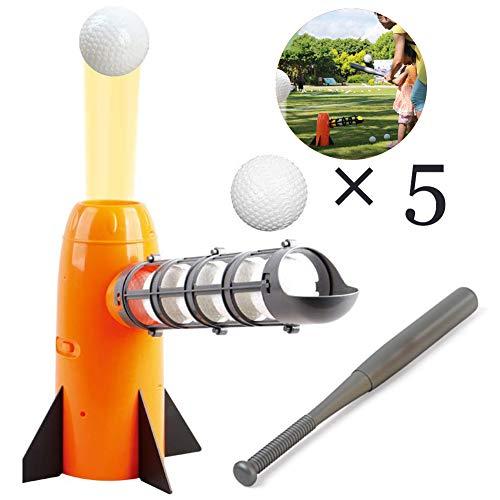 Slinlu Elektronische Baseball-Pitching-Maschine, Trainingssport, enthält 6 Kunststoff-Baseballbälle und einen Baseballschläger für Kinder-Tennis-Trainingszubehör (Pitching-maschine Für Baseball)