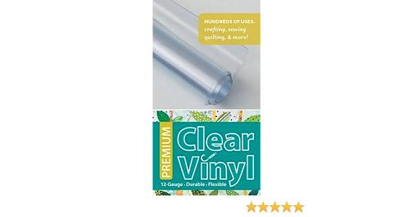 Premium Clear Vinyl Roll: 12 Gauge, Durable & Flexible