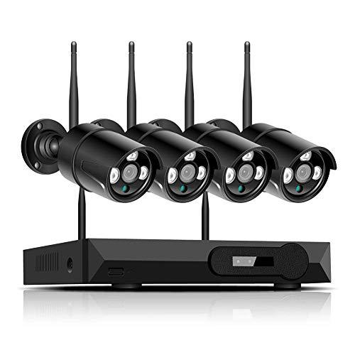 HYLH 4CH Video Uuml;berwachungskamera System 1 TB Festplatte Recorder mit 4 Outdoor CCTV Haus Sicherheit Kamera Set, Nachtsicht, P2P