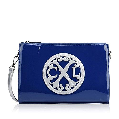 Pochette Christian Lacroix Jonc 5 Bleu/argent