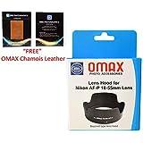Omax Lens Hood for Nikon d3300/d3400 /d5300/d5600 af-p 18-55mm vr Lens (Bayonet Type Lens Hood)