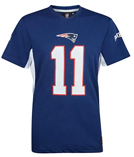 NFL Julian Edelman #11 New England Patriots Moro MESH Jersey T-Shirt, XL