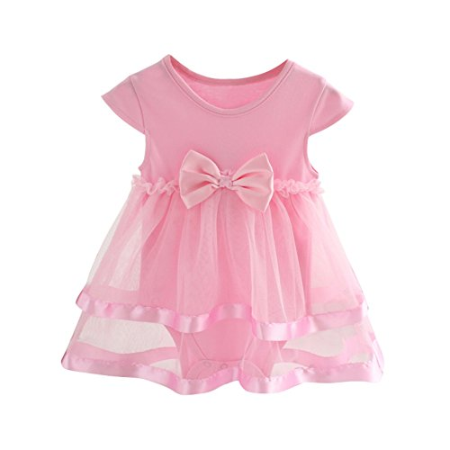 Brightup Newborn Baby Girl Dress Romper Casual Party Tulle Dress Clothing 0-2 Years