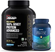 Buy GNC AMP Gold Whey Vanilla 2 Kg & Get GNC Triple Strength Fish Oil 60s