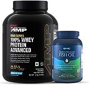 Buy GNC AMP Gold Whey Vanilla 2 Kg & Get GNC Triple Strength Fish Oil 60s