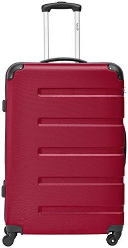 """Packenger Hartschalentrolley """"Marina"""" (XL) in Rot / Material: ABS / 75x30x48cm, 4,2 Kg, 101 Liter / 4 Rollen (360°) / stabiler eleganter Alltags Rollkoffer & Reisekoffer / integrierter Schloss /Farbauswahl"""
