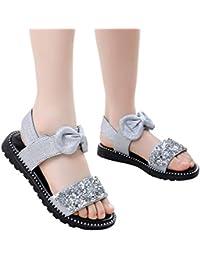YWLINK 3 Colores Casuales El Verano Infantiles NiñAs BebéS Bowknot Lindo Lentejuelas Bling Princesa Zapatos Sandalias