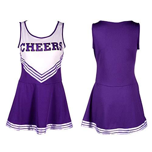 QIAO Große, sexy Cheerleader Kostüm, sexy Dessous weibliche Cheerleader Uniform, ultradünn, atmungsaktiv (Sexy Kostüm Überhaupt)