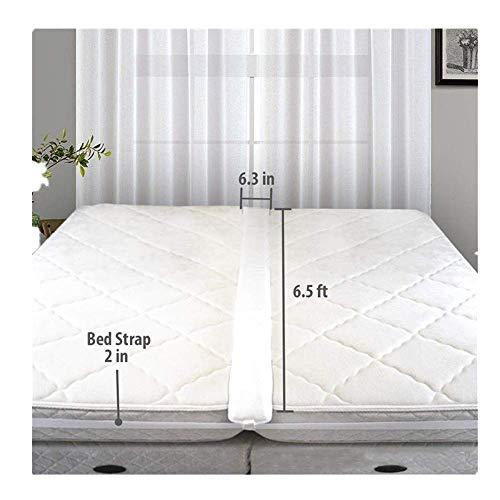 Yncc Matratzenanschluss/Doppelbett Festverbinder Bettbrücke,Inklusive PREMIUM Quality Memory Foam Pad 75x6.3 inches(L*W), 33 Fuß Langem Bettgurt Und Aufbewahrungstasche