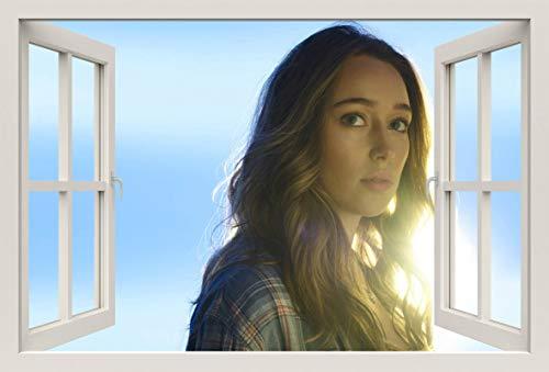 Unified Distribution Fear The Walking Dead - Alicia Clark - Wandtattoo mit 3D Effekt, Aufkleber für Wände und Türen Größe: 92x61 cm, Stil: Fenster Clarks Folien