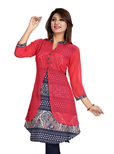 Meher Impex Crepe with Georgette Jacket Kurta