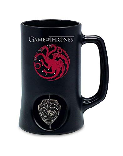 Jarra de Cerveza 3D Logo Rotatorio Targaryen Black